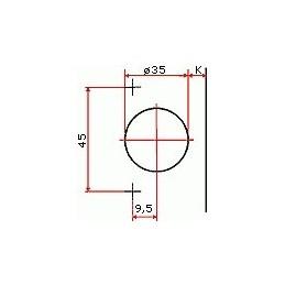 Pracovná doska K027 SU / Formed wood