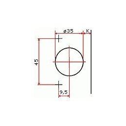 Pracovná doska PD K013 SU Artisan buk 4100/600/38