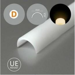 Krytka na LED profil D KLIP...
