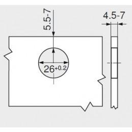 Pracovná doska Flow hodvábny (Rovná ABS Hrana) / K349 PH