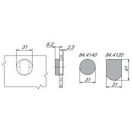 Pracovná doska  (Rovná ABS Hrana) Andromeda Šedá / K372 GM