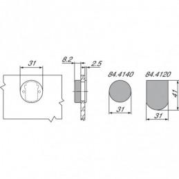 Pracovná doska  (Rovná ABS Hrana) Andromeda Biela / K217 GM