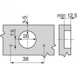 Profil na zástenu 10mm / Hliník
