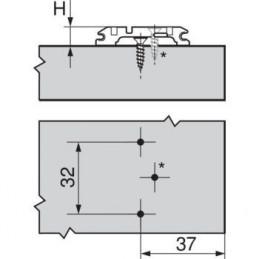 Nábytková nožička  SANDRA so závitom 100 mm / Hliník