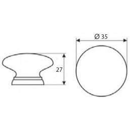 Dizajnový vešiak na dvere EMA / Lesklý chróm