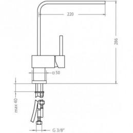 Drevotrieska doska Biela Alpská 440/PE / Perlička