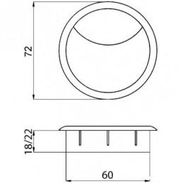 Nábytkové koliesko TENTE s brzdou 100 mm / Modrá