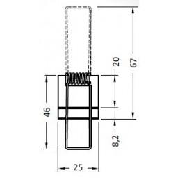 Výklopná elektrická zásuvka VERSATURN 3.0 - 2x230V + USB + HDMI / Biele sklo