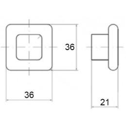 Priechodka na káble LUXURY s tlmením 200 mm / Čierna brúsená