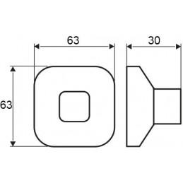 Priechodka na káble LUXURY s tlmením 200 mm / Šedo hnedá