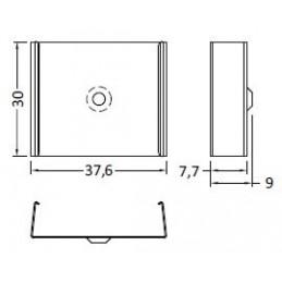 Uholník kovový s krytkou PVC - biely / 10ks