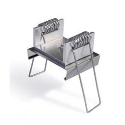 Uholník kovový s krytkou PVC - btmavohnedý / 10ks
