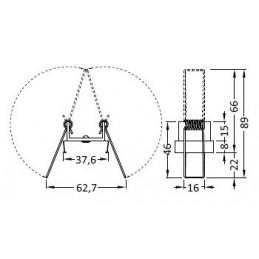 Uholník kovový s krytkou PVC - buk / 10ks