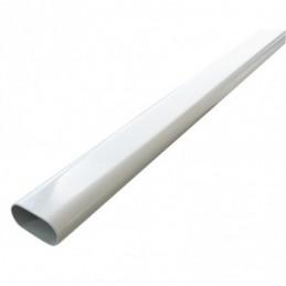 Vešiaková tyč oválna / Biela